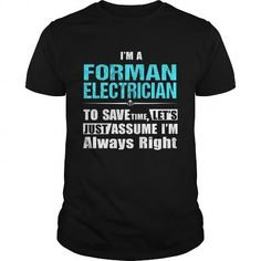 Awesome Tee  FORMAN-ELECTRICIAN Shirts & Tees