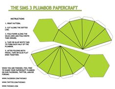 Fold this together, stick it on some wire and place it over your head. Poof! You're a Sim for Halloween! Genius!