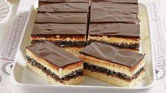 Osviežte sa: Makové rezy s citrónovou plnkou - Pluska.sk Czech Recipes, Ethnic Recipes, Nutella, Tiramisu, Cheesecake, Dessert Recipes, Baking, Food, Anna