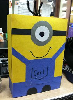 "A description of the ""Despicable Me 2"" party. maybe a cereal box wil paper on it like this"