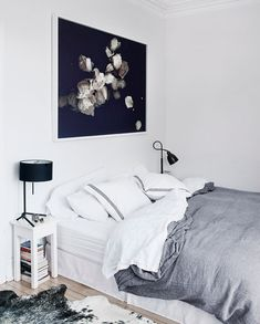 Gray duvet cover + white sheets  + pillowcase with some design