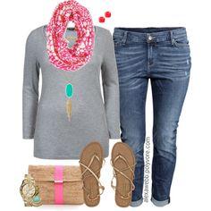 Plus Size Fashion - Spring is Near by alexawebb on Polyvore #plus #size #outfit #plussize #alexawebb   @alexandrawebb