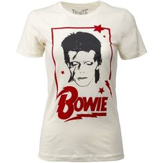 1ed3e89f9f1c Goodie Two Sleeves Womens David Bowie Band Music T-Shirt by (405.145 IDR)