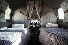 Airstream - Glamping! Chic, vintage camper with Moroccan silhouette twin headboards, ...