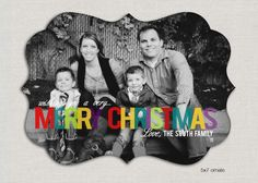 Super Cute... Love the black & white with colorful Merry Christmas!!!