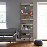The high-quality shelf made of birch film plywood adapts to new needs.Height 230 cm, depth 30 cm, available in 3 dimensions - small, medium and large. Shelf LIFT won Special Mention award on German Design Award Design Awards, Storage Spaces, Shelving, Designer, Master Bedroom, Bookcase, Furniture Design, Shelf, Roommates