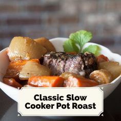 Classic Slow Cooker Pot Roast. Such a yummy and easy paleo recipe!