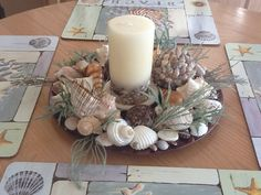 plate + candels + shell
