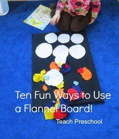 Ten fun ways to use a flannel board from @Deborah @ Teach Preschool
