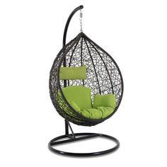 Knock Down Design Space Saving Single Seat Wicker Hanging Swing Chair Wicker Swing, Hanging Swing Chair, Swing Chairs, Swinging Chair, Knock Knock, Garden Furniture, Space Saving, Cushions, Indoor