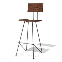 Барный стул Hanna Back Bar Stool из массива дерава и металла от компании @woodinteriaru #барныйстул #лофт #стильлофт #индастриал #loft #loftdesign #barstool #woodinteriaru #мебельмассив #мебельназаказ