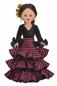 NANCY VMB COLECCIÓN Girl Doll Clothes, Doll Clothes Patterns, Barbie Clothes, Doll Patterns, Spanish Costume, Long Dress Fashion, Nancy Doll, Baby Frocks Designs, African Lace Dresses