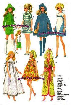 Instructions et patrons pour faire une garde-robe complète pour Barbie et autres poupées de 11 1/2! Modèles pour chaque tenue indiqué dans limage - y compris un pantalon robe, sport robe, cape, chapeau, bottes et sac à main.  Il sagit dune copie PDF de mon patron vintage original. Il contient 27 pages (papier 8 ½ x 11) et le patron grandeur nature. Il sagit dun modèle de téléchargement immédiat, donc vous obtenez votre modèle immédiatement et vous navez pas à payer toute expédition ! Vous…