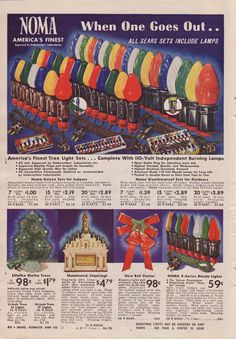 Noma Lights in Sears Christmas Catalog, 1940