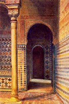 Landscapes by British artist George Owen Wynne Apperley Figure Painting, House Painting, Islamic Tiles, Islamic Paintings, English Artists, Watercolor Sketch, Vintage Artwork, Urban Landscape, Art Techniques