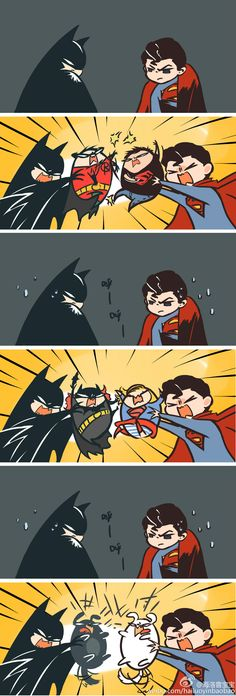 Batman v Superman. Oh come on, you guys are not kids. Batman, don't let robin…
