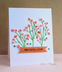 This card from Girl Friday Virginia took my breath away.  3 pretty die cut trees and a couple of markers were all it took for  this stunning card to come together.  It's gorgeous!!  www.cas-ualfridaysstamps.com #casualtrees #dies #cards