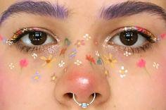 Image about art in nails&eyes by Mitzi Perez on We Heart It Aesthetic Makeup art Heart Image Mitzi n Makeup Goals, Makeup Inspo, Makeup Inspiration, Makeup Tips, Beauty Makeup, Hair Makeup, Makeup Hacks, Teen Makeup, Makeup Eyeshadow