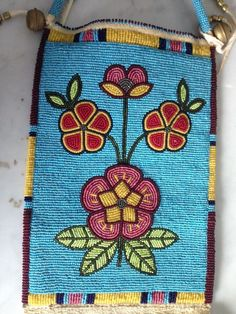 Native American Style Beaded Bag | eBay