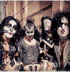 Kiss - Creem magazine photo session, 1974.