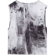 Helmut Lang Tidal Print Jersey Top (€160) ❤ liked on Polyvore