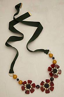 Blossette Ribbon Necklace - anthropologie.com