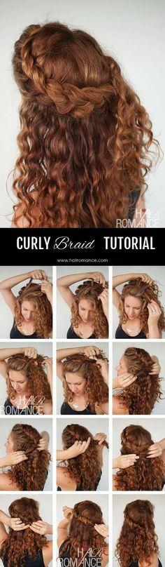 Sensational Twisted Bun Curly Hair Tutorial And Hair Romance Curly On Pinterest Hairstyles For Women Draintrainus