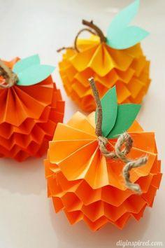 fall kids crafts pumpkin