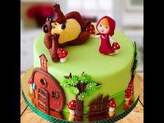 Dicas de Bolo Masha e o Urso Tips for Cake Masha e o Urso Baby Cakes, Baby Shower Cakes, Baby Birthday Cakes, Bear Birthday, Girl Cakes, Cupcake Cakes, Masha Cake, Dora Cake, Masha Et Mishka