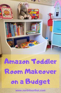 Transitioning from nursery to toddler room when you are on a budget.  Where to find all the cute little furniture on Amazon for under $100 a piece! Nursery To Toddler Room, Toddler Rooms, Kids Bedroom, Child Room, Kids Rooms, Baby Room, Toy Storage Bins, Diy Home Improvement, Kids And Parenting