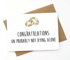Hey, I found this really awesome Etsy listing at https://www.etsy.com/listing/279012224/funny-wedding-card-funny-engagement-card
