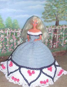 Crochet Fashion Doll Barbie  Pattern 563 OH от JudysDollPatterns