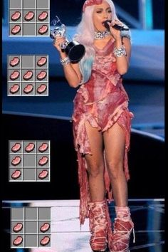 Lady Gaga made good use of her crafting table. I love lady gaga but, LOL Minecraft Logic, Minecraft Kunst, How To Play Minecraft, Minecraft Stuff, Minecraft Funny Memes, Minecraft Clothes, Minecraft Mobile, Minecraft Awesome, Minecraft Outfits