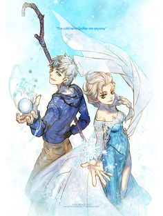 Rise of the Guardians' Jack Frost and Frozen's Elsa / oollnoxlloo on Tumblr