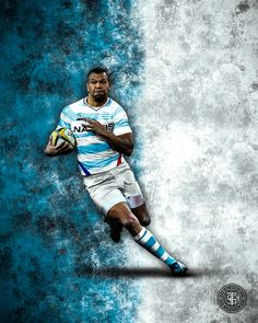Australian Rugby Player Kurtley Beale in a Jersey Australian Rugby Players, Sports Graphics