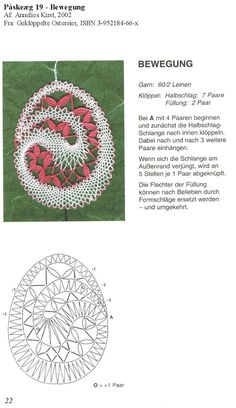 Lace Art, Bobbin Lace Patterns, Lacemaking, Easter Crochet, Lace Jewelry, Needle Lace, Lace Detail, Crochet Projects, Tatting