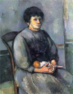 Paul Cezanne, Young Girl with a Doll, 1902 Cezanne Art, Paul Cezanne Paintings, Charles Angrand, Georges Seurat, List Of Paintings, Oil Paintings, Monet, Pierre Auguste Renoir, Edouard Manet