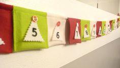 Advent Calendar Christmas Garland Made with Wool Felt. $45.00, via Etsy.