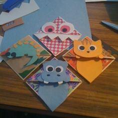 Image result for cheetah bookmark diy OR origami
