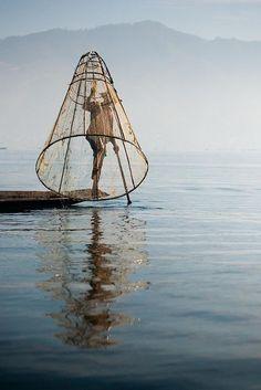Fishing, Lake Inle, Myanmar. Photo: youngrobv, via Flickr