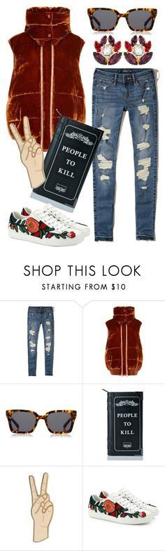 """Road trip"" by rmhtwc ❤ liked on Polyvore featuring Hollister Co., STELLA McCARTNEY, Karen Walker, Killstar, Lucky Brand, Gucci and Dolce&Gabbana"