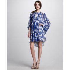 Diane von Furstenberg Fleurette Printed Chiffon Dress
