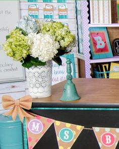 Add vintage flair to your classroom with the Shabby Chic Collection from our Signature Line. The Burlap and Mason Jar Accents are so charming you'll want to add them to every inch of your classroom. Soft colors like rose, orchid, and teal coordinate perfectly with the burlap and wood-inspired decorations.