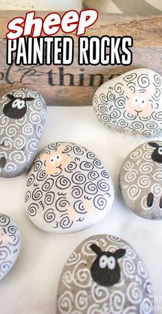 With just a handful of supplies you'll be on your way to making adorable sheep painted rocks. A fun and easy craft for Easter or spring! Smooth Rock, Green Craft, Adult Crafts, Kid Crafts, Spring Crafts For Kids, Easter Activities, Wedding Crafts, Rock Crafts, Cool Diy Projects