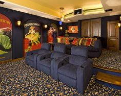 Media Room Theater Rooms Design, Pictures, Remodel, Decor and Ideas