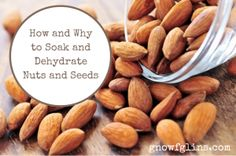 How and Why to Soak and Dehydrate Nuts and Seeds | Do you feel like you could never possibly soak and dehydrate your own nuts and seeds? Do you wonder why it is even important? I want to tell you two things: 1) You can do it! and 2) It is important! | TraditionalCookingSchool.com