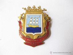 Insignia del III Congreso Nacional de Bomberos. San Sebastián, 1963.