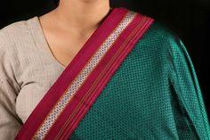 Handloom Cotton Khun Fabrics From Maharashtra | Maharashtrian Look in 2019 | Cotton saree ...