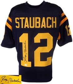 Roger Staubach Signed Custom College Football Jersey JSA Football Jerseys 5d0c1ff09