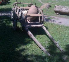 A Kvevri on a Cart